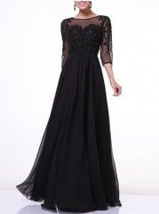 Brilliant Embroidery Mesh Patchwork Party-dress