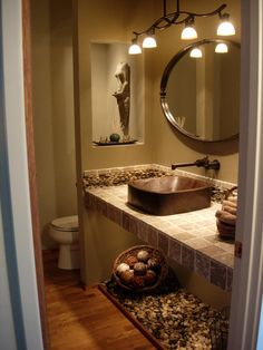 spa themed bathroom ideas | Spa Powder Room - Bathroom Designs - Decorating Ideas - HGTV Rate My ...