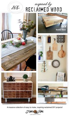A massive collection of inspiring, easy to make projects, on FunkyJunkInterior. wood projects projects diy projects for beginners projects ideas projects plans Diy Furniture Plans Wood Projects, Reclaimed Wood Projects, Scrap Wood Projects, Salvaged Wood, Wood Furniture, Furniture Design, Woodworking Outdoor Furniture, Easy Woodworking Projects, Woodworking Plans