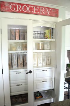 Get your kitchen pantry organized with these brilliant ideas from Amy at The Idea Room.