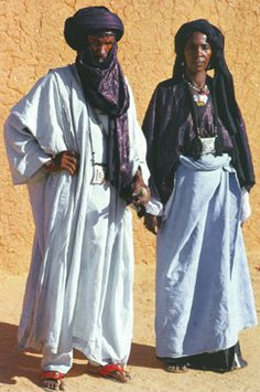 Tuareg man and woman