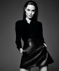 Angelina Jolie with her Little Black Dress. http://bit.ly/1nGrLZj