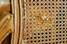 how to turn a broken caned chair into an upholstered one