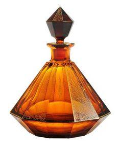 Jewel-Shaped Rich Amber Perfume Bottle