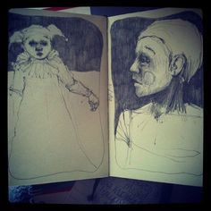 Daily sketches by gilfling, via Flickr