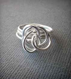 Silver Twist Ring.