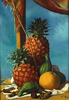 History of Art: Pierre Roy Photography Tags, Still Life Photography, Pierre Roy, Magic Realism, Beautiful Moon, Oil Painting Reproductions, Surreal Art, Caricature, Pineapple