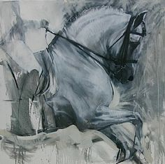 Exuberante I by Sally Martin Oil ~ 36inch x 36inch