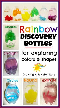 Rainbow Discovery Bottles | Growing A Jeweled Rose | Bloglovin'