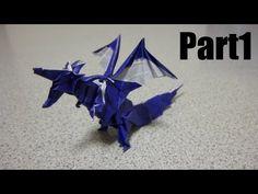 Origami Fiery Dragon 折り紙 折り方 ドラゴン - YouTube Oragami, Origami Paper, Dragon Youtube, Fiery Dragon, Diy And Crafts, Paper Crafts, Origami Dragon, Monster Hunter, Flower Crafts
