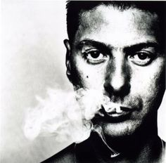 Etienne Daho, French singer, smoking