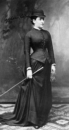 "Bertha Pappenheim - a Jewish women's rights activist known in the writings of Sigmund Freud as ""Anna O"" - 1882 ~ wearing a very tight corset, I might add"