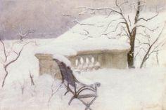 """In The Elbank, Hamburg""   - Fritz Thaulow (Norwegian, 1847-1906)"