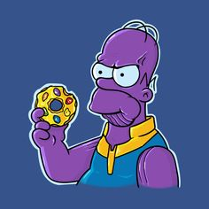 Homer - Infinity War, The Simpsons Simpsons Characters, Simpsons Art, Drawing Cartoon Characters, Character Drawing, Comic Character, Cartoon Drawings, Character Design, Futurama, Homer Simpson