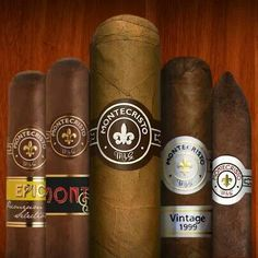 Montecristo - What a lineup! Montecristo Cigars, Classy Suits, Premium Cigars, Cigars And Whiskey, The Masterpiece, Men Stuff, Marshalls, Lineup, Pipes