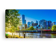 Sunset on the Yarra River Canvas Print