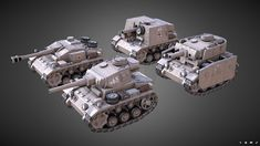 Ingame Mini tank models of Panzer III, Panzer III Ausf. N , Stug III, StuIG Created with max and Substance Painter - Mini Panzers - model by BalazsSzeleczki ( Tank Drawing, Bubble Tanks, Poly Tanks, Military Drawings, Tank Destroyer, Sketches Tutorial, Modelos 3d, Army Vehicles, Character Concept