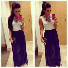 cobalt blue skirt, i want it