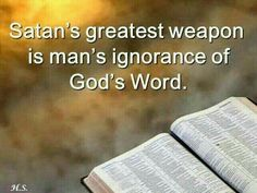 ..lack of God's knowledge is not good..