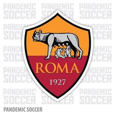 Roma Calcio Italy Color Vinyl Sticker Decal