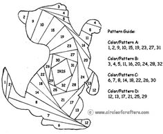 Iris Folding @ CircleOfCrafters.com: Kitten Pattern