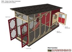 home garden plans: M600 - Chicken Coop Plans Construction - Chicken Coop Design - How To Build A Chicken Coop