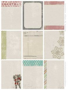 free journalling tags