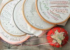 12 Month Stitch Sampler Subscription. Each month you'll get a different sampler in the mail to work on.