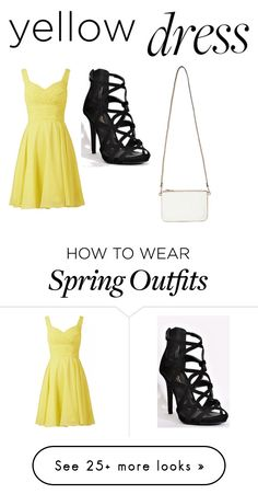 """Cute event spring dress/outfit"" by kamrynpostello on Polyvore featuring Miss Selfridge"