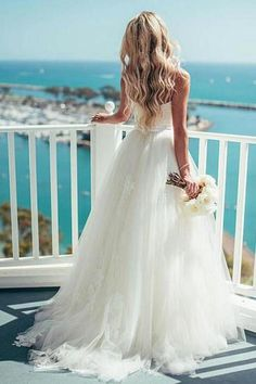 A-line Tulle Spaghetti Strap Neckline Wedding Dress With Lace Applique,Sexy Wedding Dresses,Affordable Wedding Party Dresses,Cheap Wedding Dress,Bridesmaid Gown