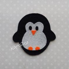 Filcowy Pingwin | Zakładka narożna z filcu (034)