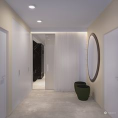 Interior design of this family residence is mainly based on the fundamental principals of identity of TOLICCI. The basis is formed by earthy, warm hues Modern Entrance, Oversized Mirror, Interior Design, Lighting, Luxury, Room, Separate, Mirrors, Designer