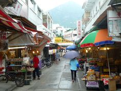 Tai O fishing village market on Lantau Island.