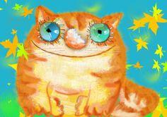 Рыжий кот .нарисовано в фотошопе Сивко Жанна