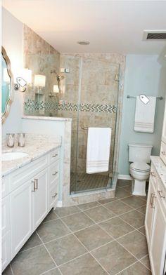 Corner shower idea for master bathroom