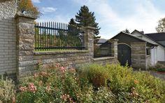 Vermont® Grande - Die ästhetisch anspruchsvolle Mauer-Lösung in beliebter Natursteinoptik für große Höhen und leichte Verkehrslast geeignet.