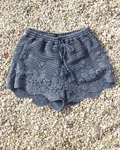 A&F East Coasting // Crochet Lace Soft Shorts: Supersoft and pretty crochet lace with a tassel drawstring waist and scalloped hem // abercrombie.com