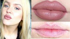 how to get bigger lips . bigger lips tips . how to make lips fuller . how to exfoliate lips . Make Lips Bigger, How To Get Bigger, Basic Makeup Tutorial, Lipstick Tutorial, Natural Lipstick, Natural Eye Makeup, Diy Lip Plumper, Kylie Jenner Makeup Tutorial, Lip Surgery