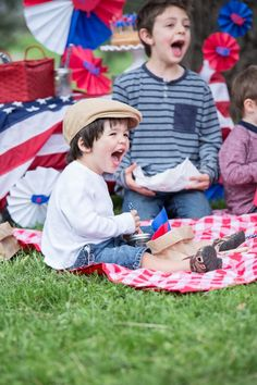 4th of July Picnic with Astrobrights Papers & Silhouette CAMEO/Portrait - CLICK TO SEE TONS OF FUN IDEAS!