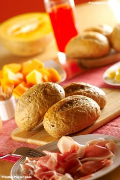 Poster of fresh bread for breakfast, Food Posters, #poster, #printmeposter, #mousepad, #tshirt