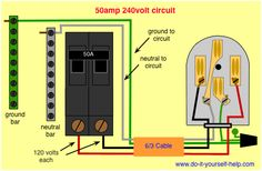 26 Best 50 amp wiring images | Electrical wiring, House ...  Amp Rv Plug Wiring Schematic on