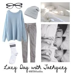 """""""Lazy Day with Taehyung"""" by btsoutfits ❤ liked on Polyvore featuring J.Crew, Accessorize and Pieces"""