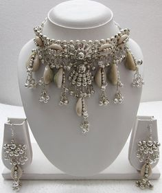 Natural Cowrie Shell Necklace Earrings   Boho Necklace   Gypsy Necklace   Hippie Necklace   Festival Necklace   Banjara Kuchi Rabari   f1427