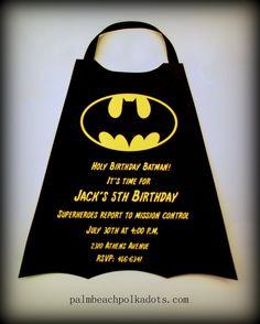 Superheroes Batman  Birthday Invitation