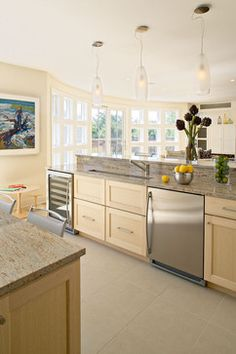 Neutral Kitchen With Light Granite Coun Design Ideas, Pictures, Remodel, and Decor - page 6