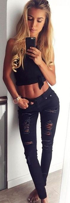 #summer ##flawless #Outfits |  Black + Black