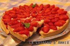 Tarte aux fraises avec crème pâtissière