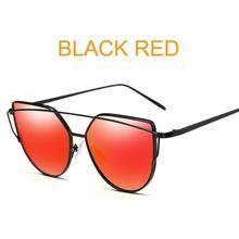 75e06af67b 2018 Cat Eye vintage Brand designer rose gold mirror Sunglasses For Women Metal  Reflective flat lens Sun Glasses Female oculos