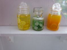 Orange Lemon and Pickle Preserves by kensingtonminiatures on Etsy, $24.99