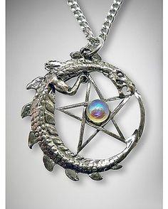 Dragon Pentagram Necklace - Spencer's